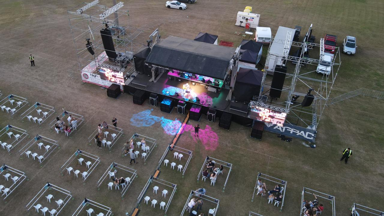 Gladstone Regional Council held the Air Beats open air concert on November 20 and 21 at Blain Park featuring Sheppard. Picture: Rodney Stevens DJI Mavic Air 2