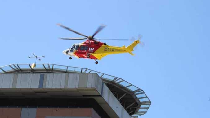 Teen motorcyclist flown to hospital with head trauma