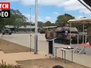 Tank salute fail
