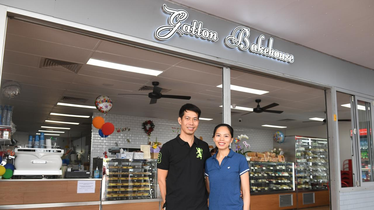 Gatton Bakehouse owners Long and Van Tran, one week after they opened their new bakery at the Gatton Square Plaza. Photo: Ali Kuchel.
