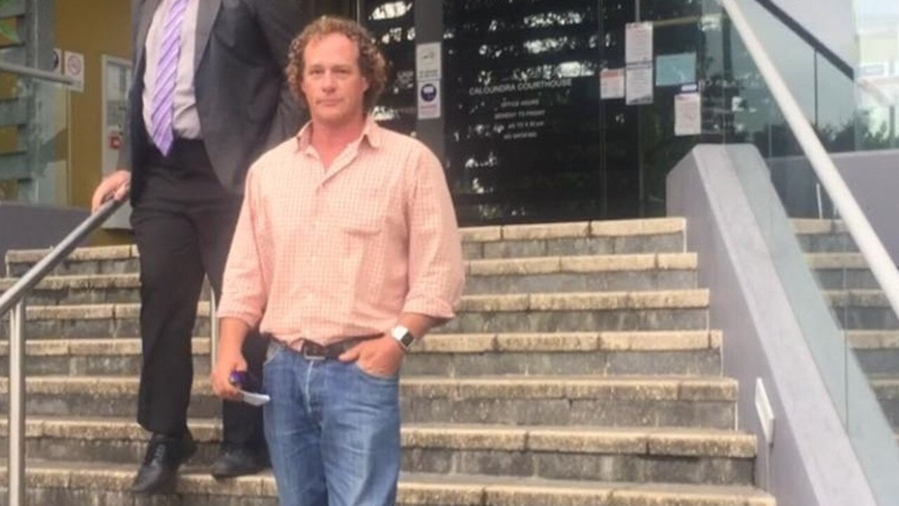 Geoffrey Bruce Tobler leaves Caloundra Magistrates Court on Wednesday after pleading guilty to assaulting a pub chef at Maleny. Picture: Laura Pettigrew