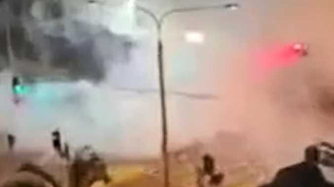 WATCH: Hoon performs burnout in middle of Surfers