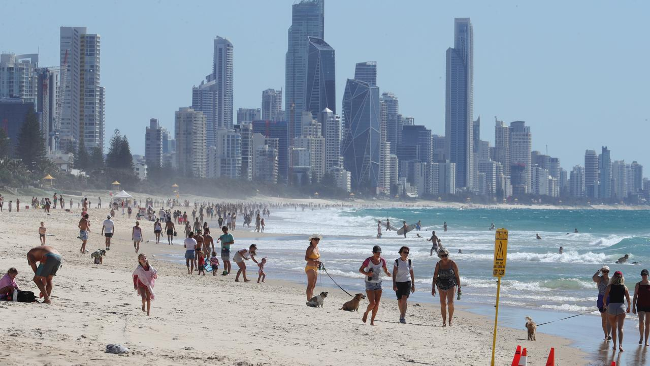 Crowds will soon return to the Gold Coast. Pictured: Easter beach crowds at Miami / Glenn Hampson.