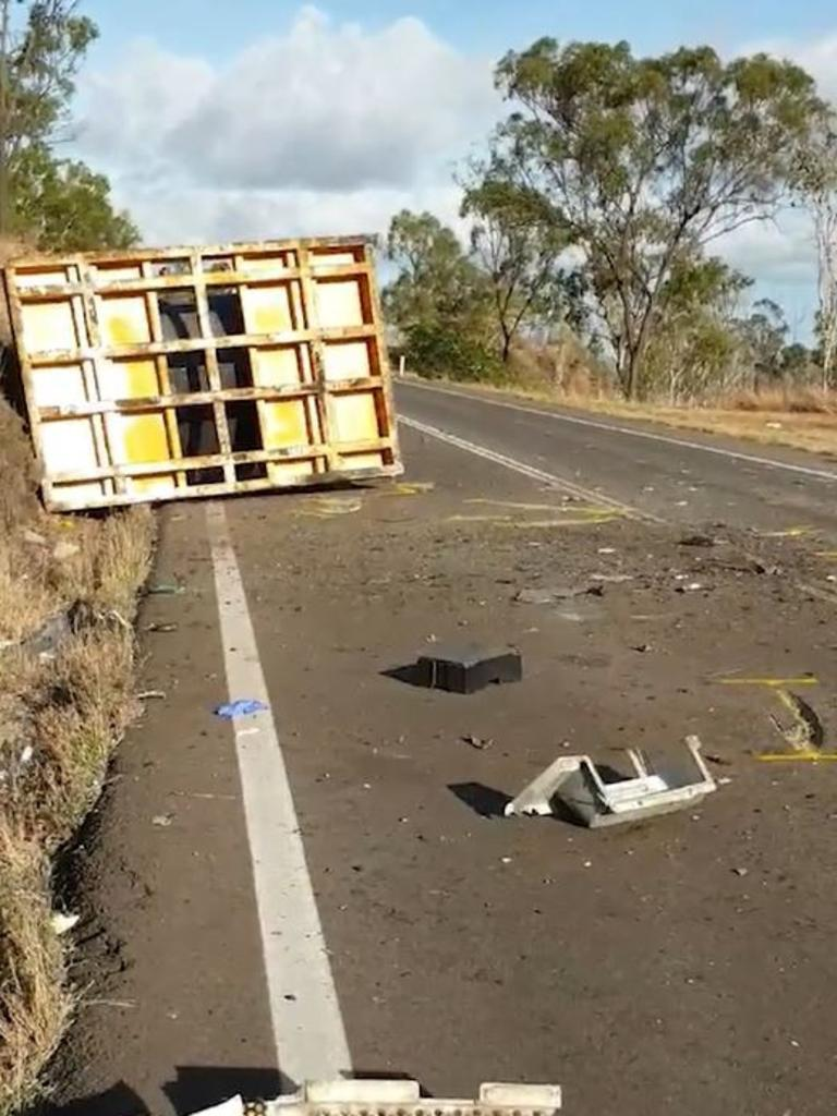 Fatal truck crash on the Bruce Highway at Stuart, November 24, 2020.