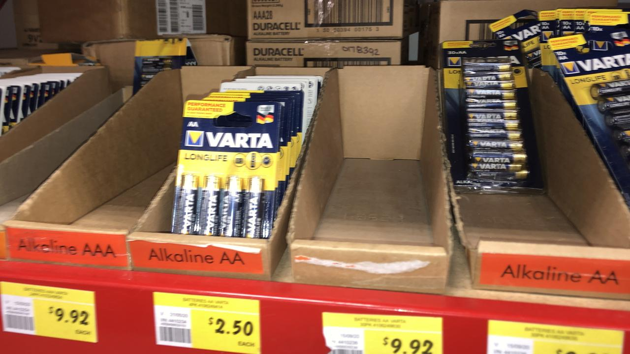 Don't forget to pick up batteries, which have also been flying off shelves.