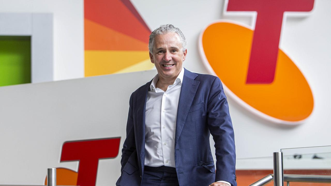 Telstra CEO Andy Penn at their HQ in Melbourne. Picture: Aaron Francis/ The Australian