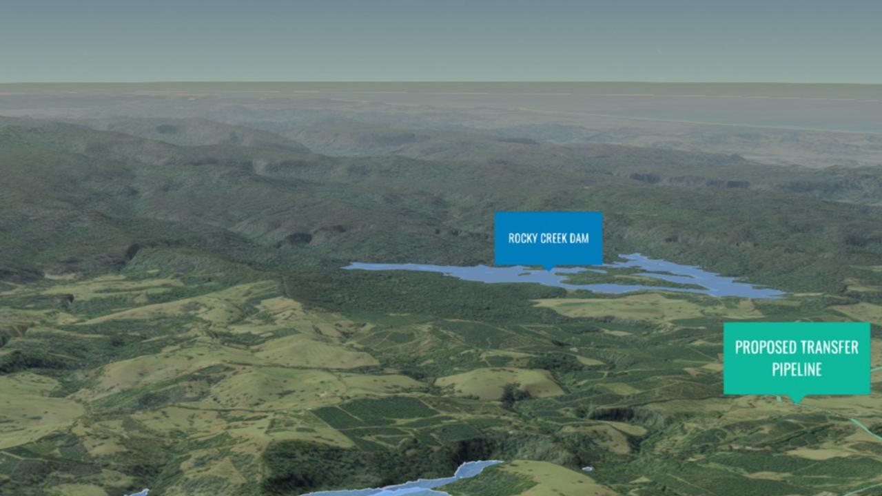 A 3D version of what a possible Dunoon Dam would look like is available from the Rous County Council website.