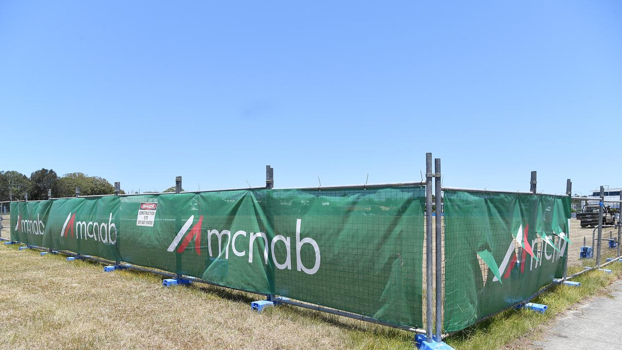 Temporary fencing has been erected around the Dalton Drive site. Picture: Patrick Woods.