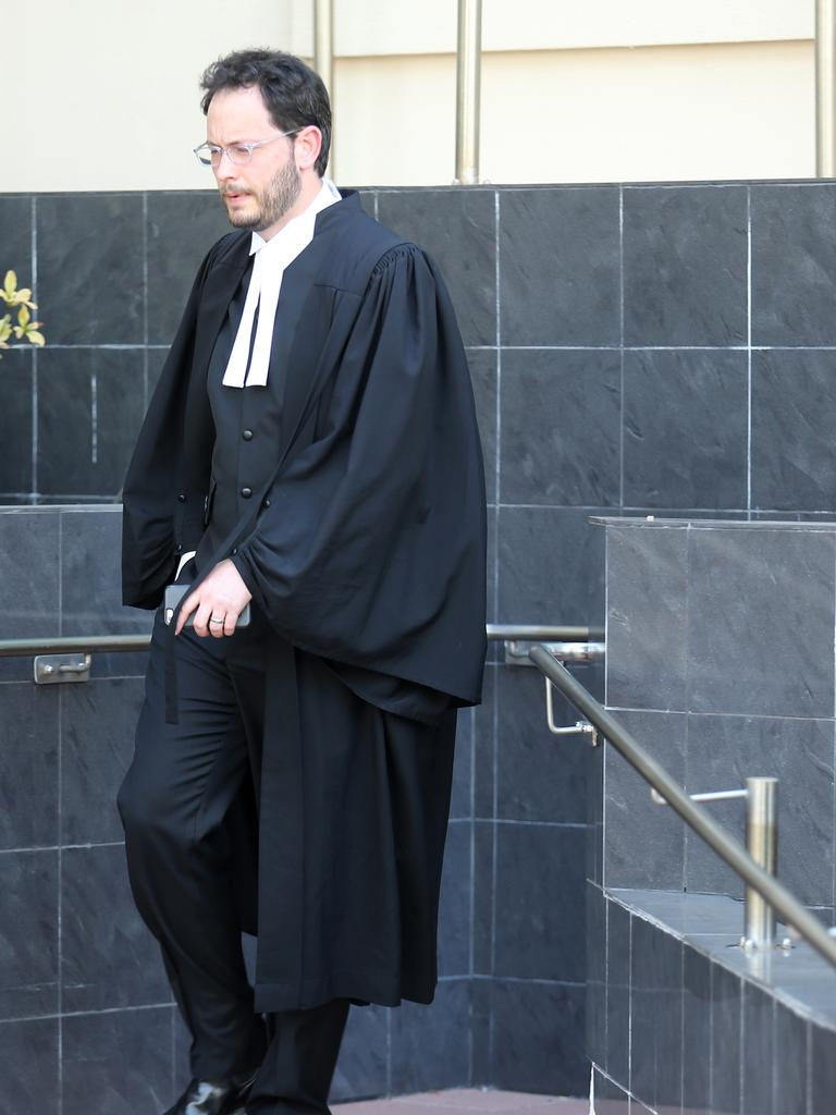 Crown prosecutor Joshua Phillips outside the Rockhampton Court House. Pictures: Jack Tran