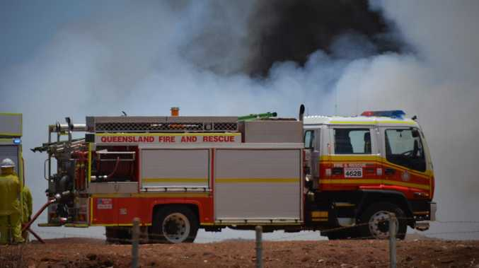 UPDATE: Crews plan fire break to contain Nerimbera blaze