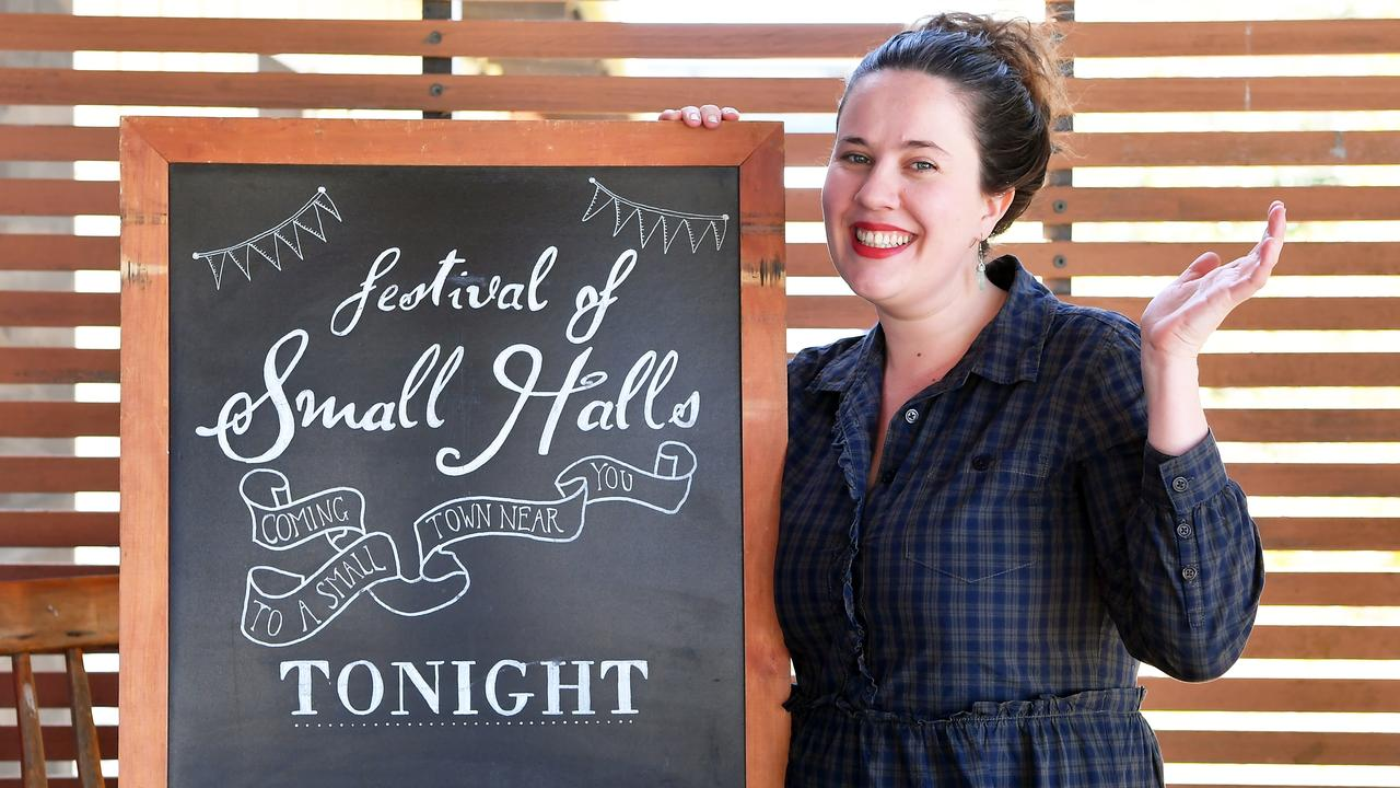 ROCKING ON: Eleanore Rigden, producer of the Festival of Small Halls is eager for tonight's show in Glen Aplin. Photo Patrick Woods / Sunshine Coast Daily.