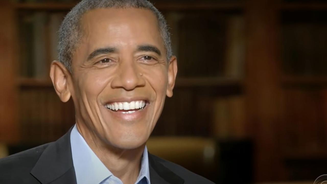 Barack Obama during his interview with Stephen Colbert.