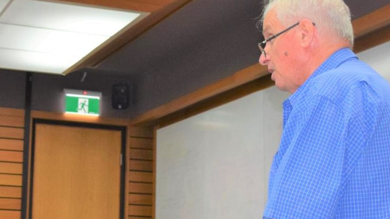 Brian O'Connor addressing his concerns to a recent council meeting.