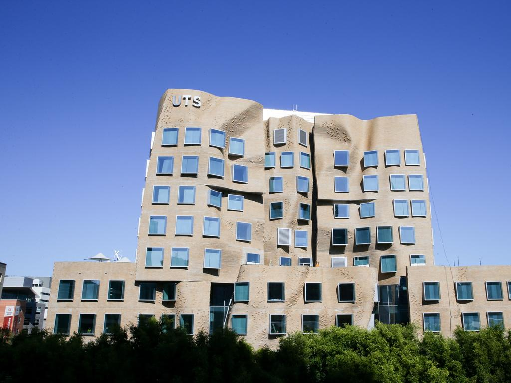 Frank Gehry's 'paper bag' UTS building in Sydney.