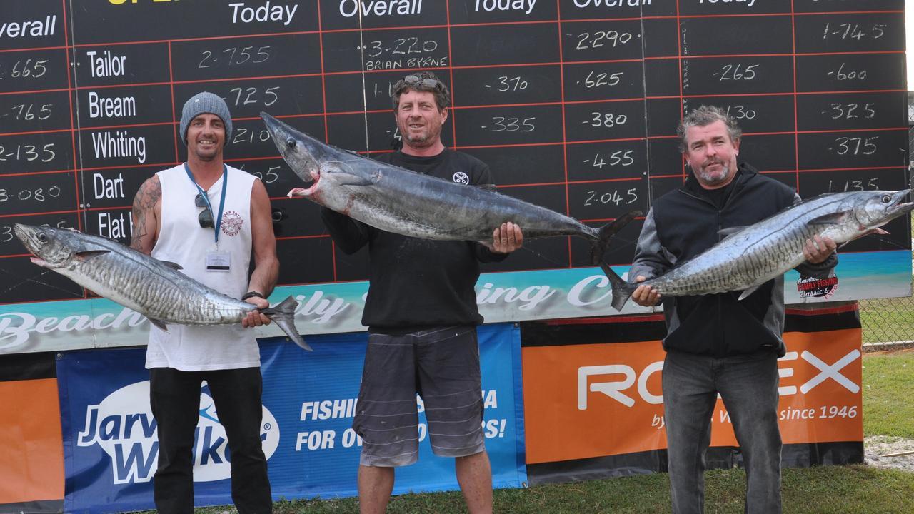 Rainbow Beach Family Fishing Classic 2019, Adam Cottier, David Bradford and Lewis Hoadley.