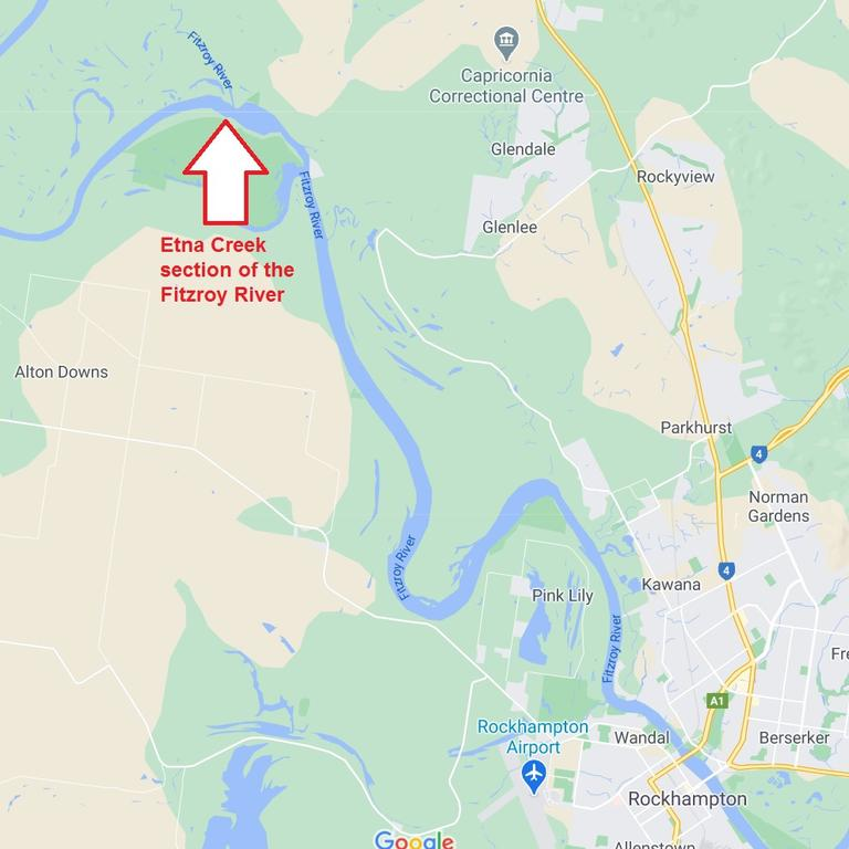 A large homemade hook was found at the Etna Creek section of the Fitzroy river.