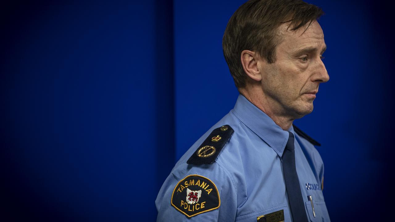 State Controller Police Commissioner Darren Hine. Picture: LUKE BOWDEN