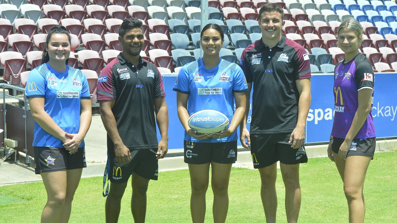 Mackay Cutters players L-R: Zoe Cook, Rayden Burns, Jasmine Peters, Joshua Smith and Leila Dunne.