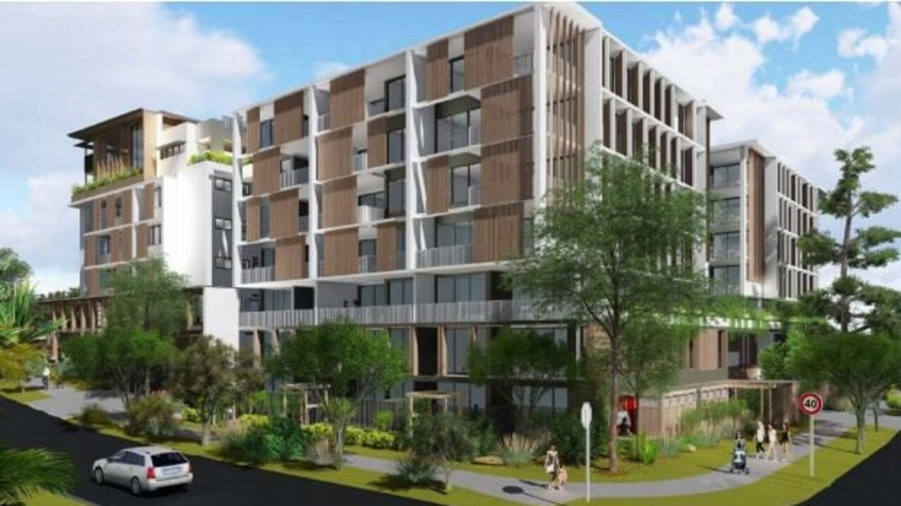An artist's impression shows a proposed apartment building development in Buddina.