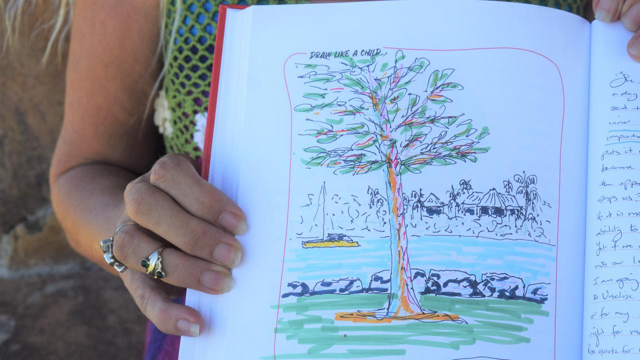 The journals include space for people to draw and write as a way to express their emotions. Picture: Laura Thomas