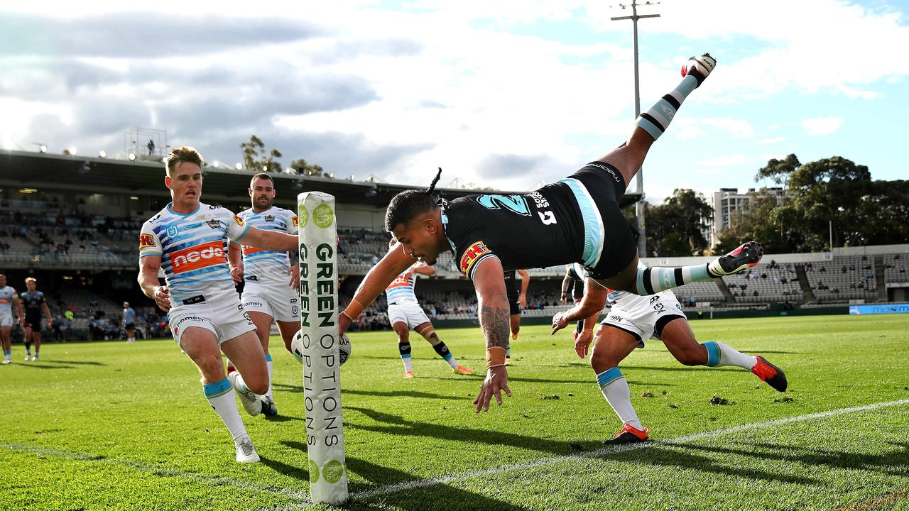 The Cronulla Sharks will take on the Gold Coast Titans in Coffs Harbour nect May. Picture. Phil Hillyard