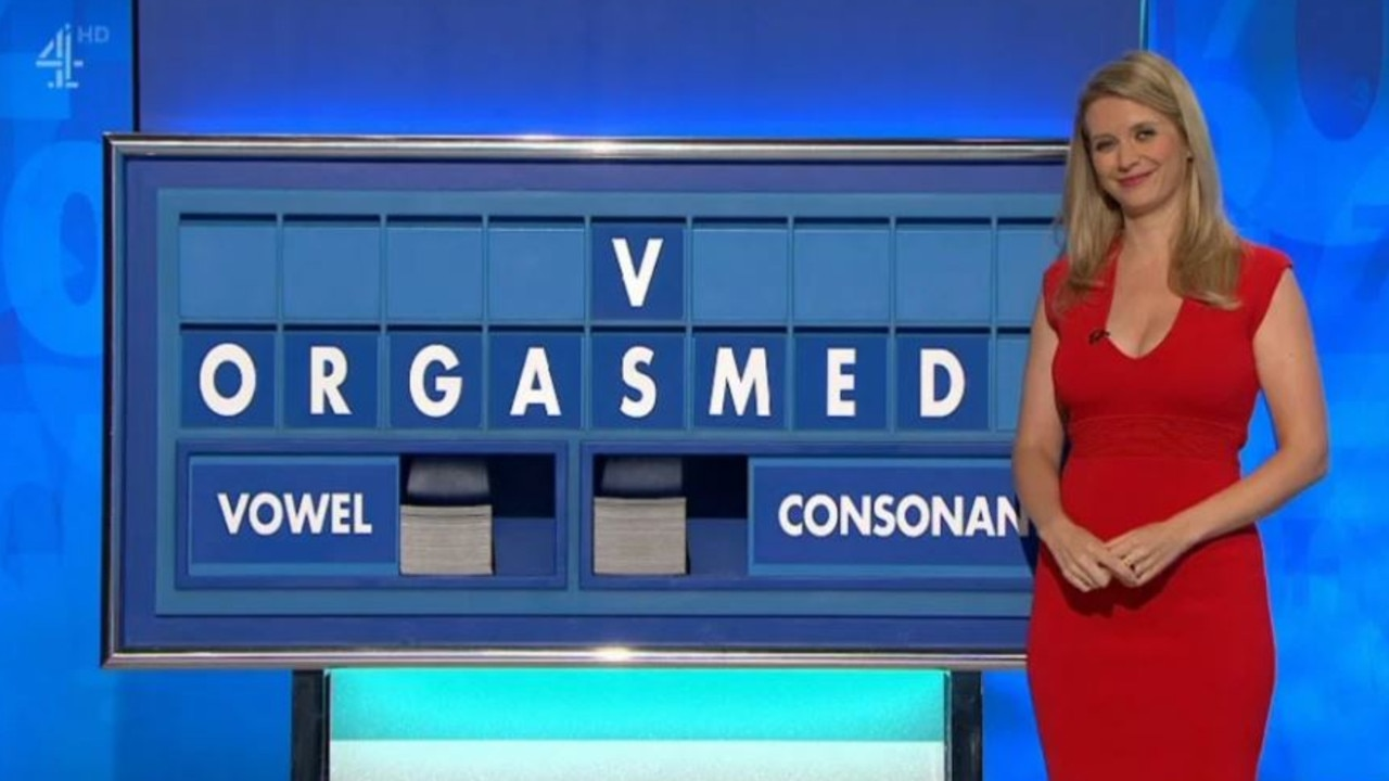 Rachel Riley spelled out orgasm on Countdown. Picture: Channel 4