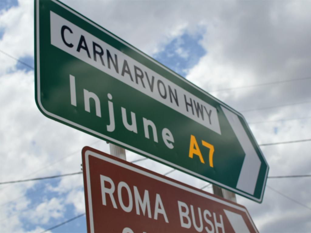The Carnarvon Highway through Roma, part of Labor's planned 'second Bruce Highway'. PIC: Lachlan Berlin