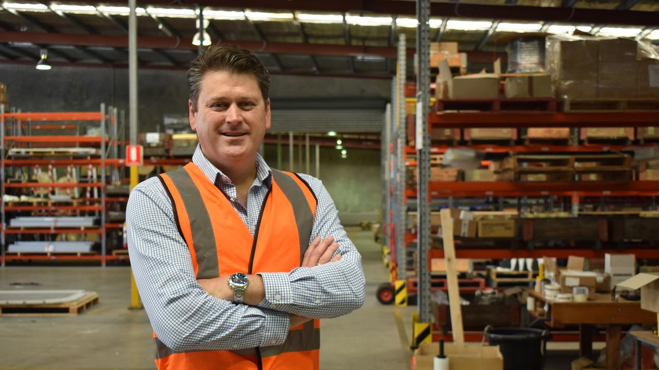 Bombardier Head of Sales for Australia and New Zealand Todd Garvey at the company's warehouse in Maryborough. Photo: Stuart Fast