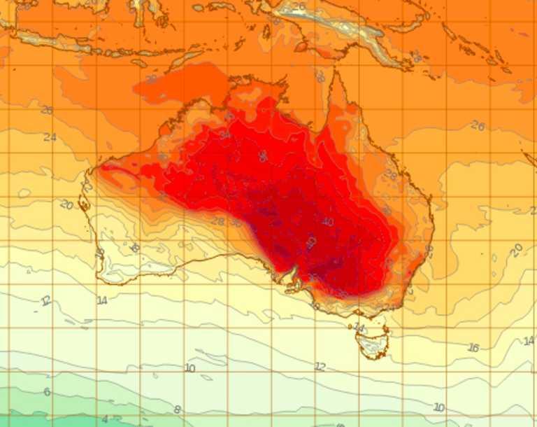 Heatwave to batter Australia's east coast. Picture: BOM