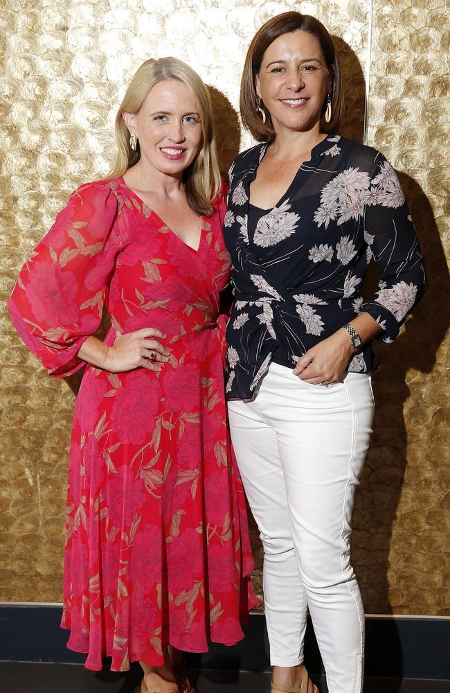 Kate Jones (left) and Deb Frecklington at a previous social outing