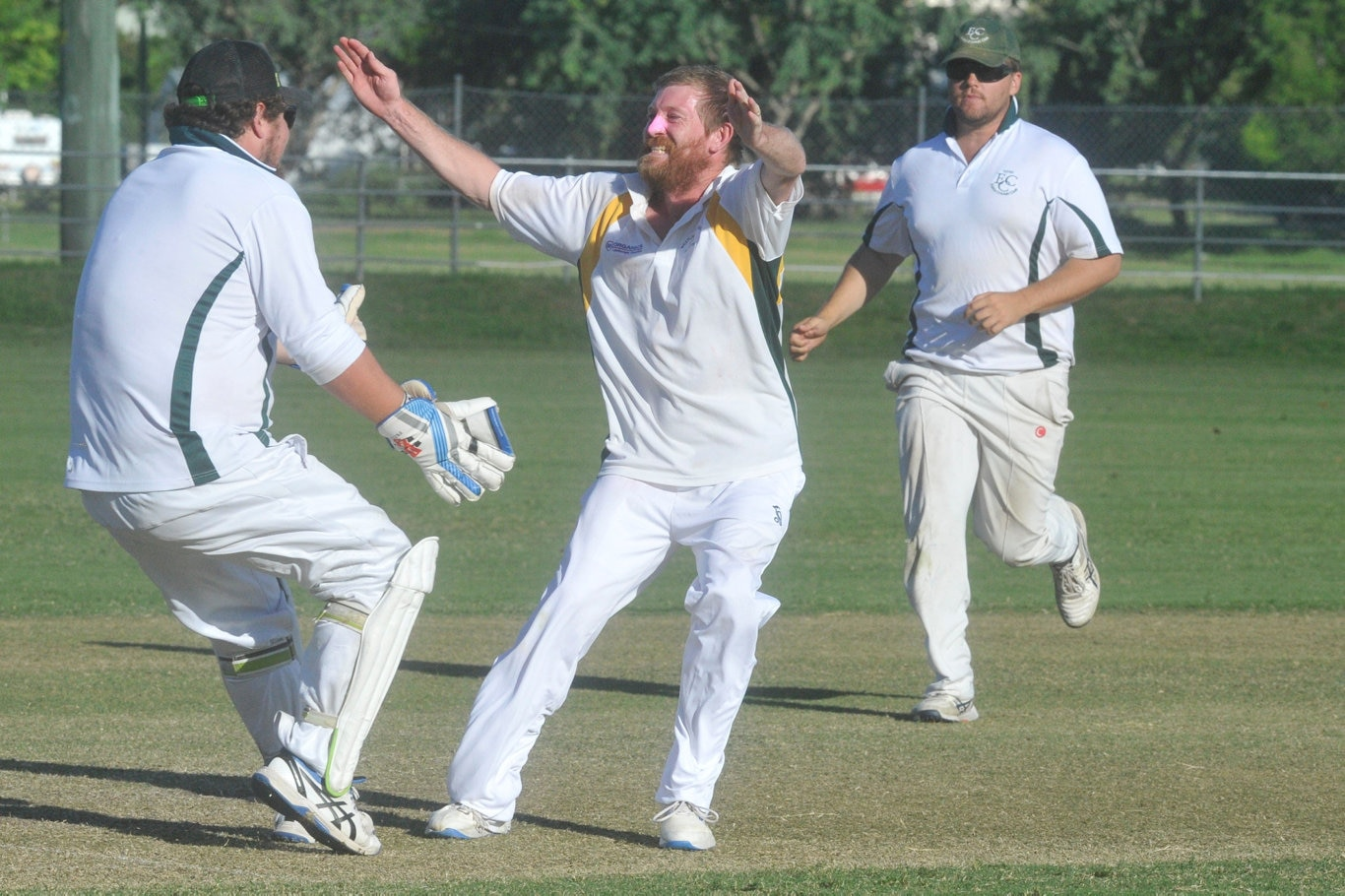 Nathan Blanch celebrates a wicket during the 2019/20 Clarence River Cricket Association GDSC Premier League minor semi-final match at McKittrick Park on Saturday, 15th March, 2020.