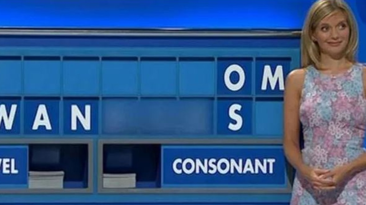 """Countdown was forced to blur out the word """"w***ers"""" after it appeared on the board. Picture: Channel 4"""