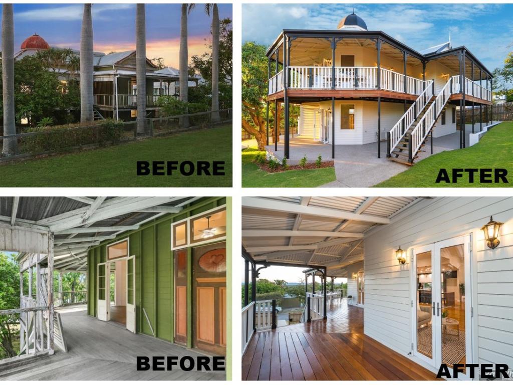 Before and after of the Wandubari renovation.