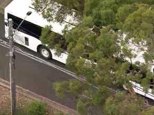 Children hospitalised after school bus crash