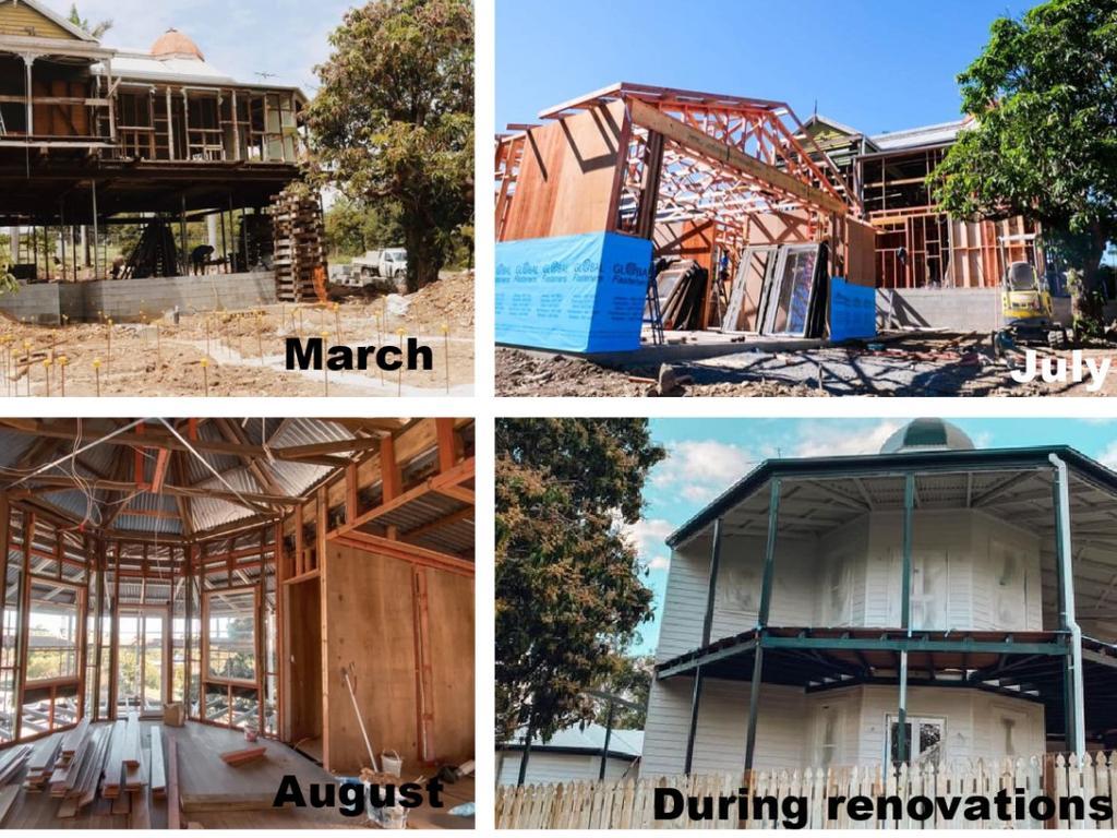 Progress of the Wandubari house over 2020.