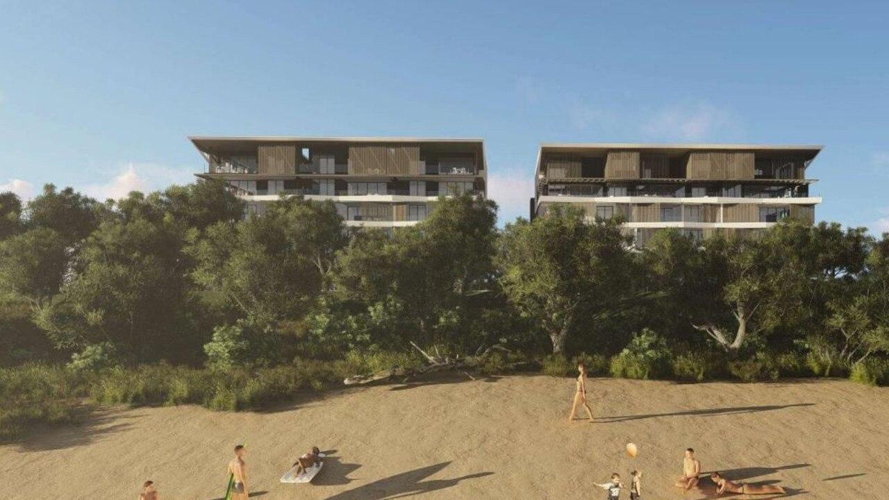 Concept plans for the Buddina Beach development.