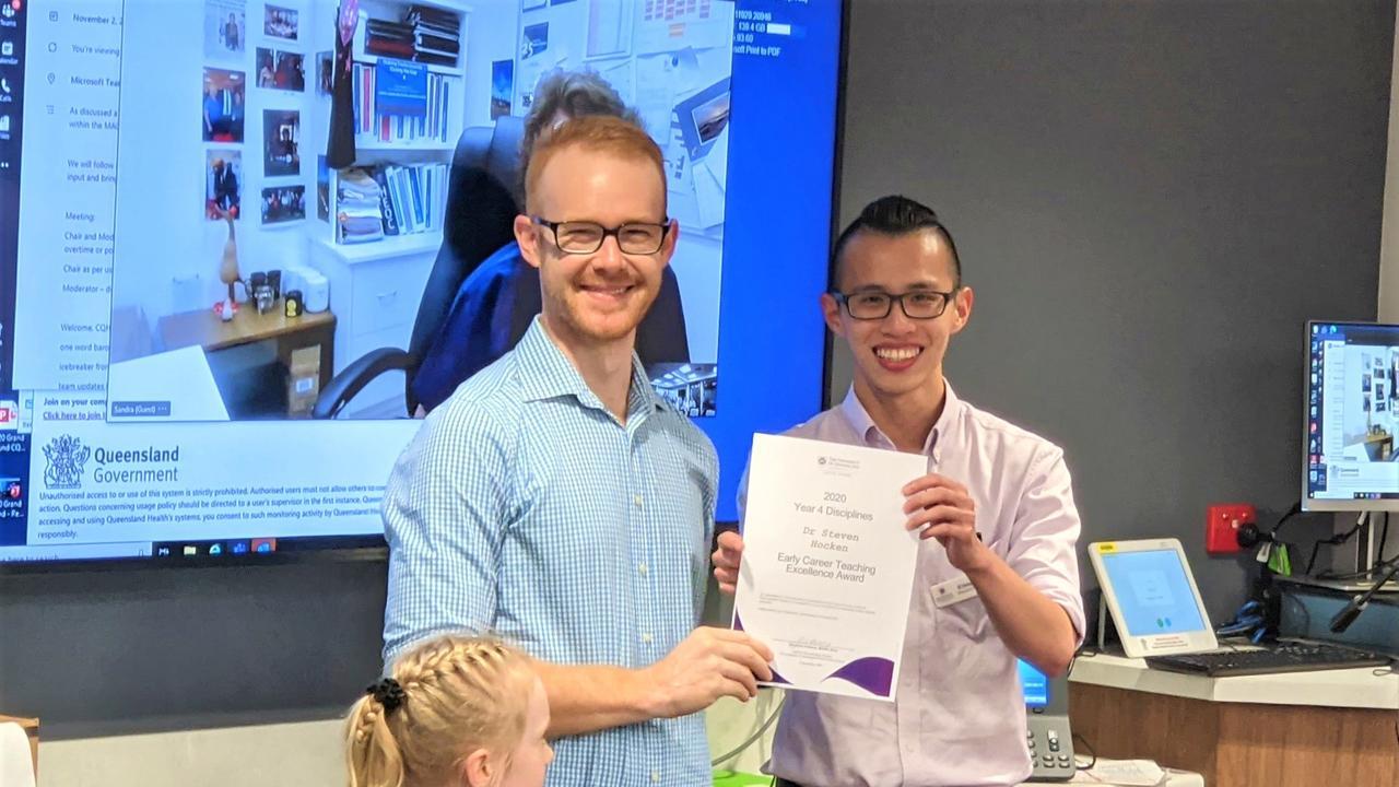 Dr Steven Hocken, Summer Hocken and student E-Hong Seah.