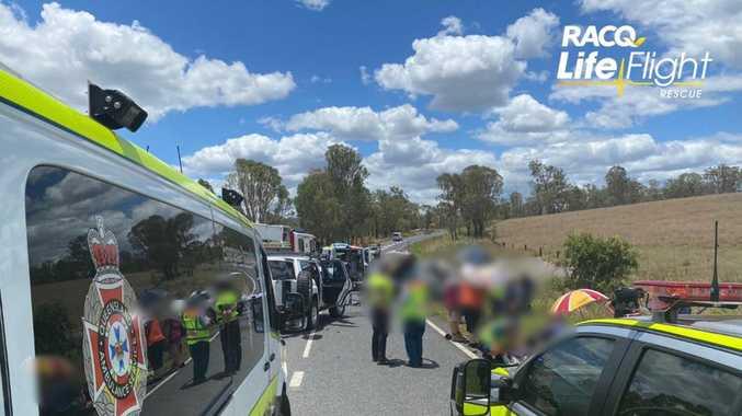PHOTOS: Teen flown to hospital after nasty Woolooga crash