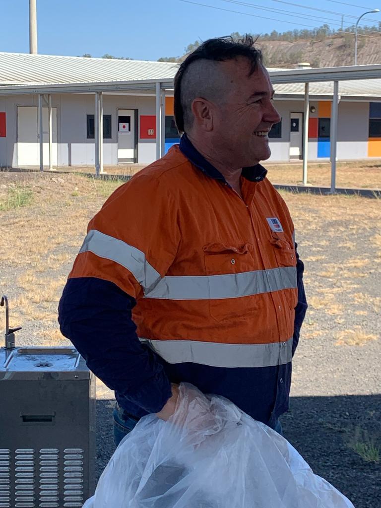 Underground mine manager Ken Singer rocking his mohawk. Picture: supplied