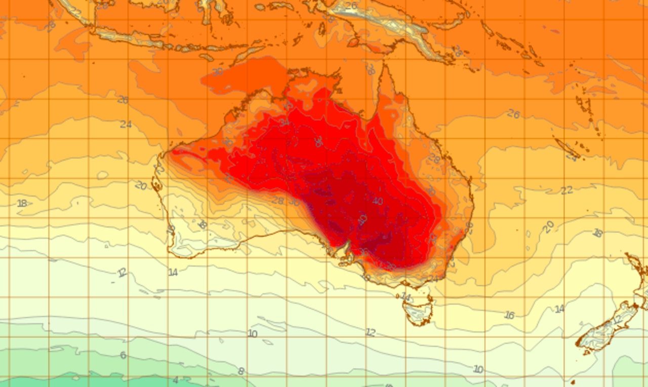 Scorching temperatures to lash Australia's east coast this weekend. Picture: BOM