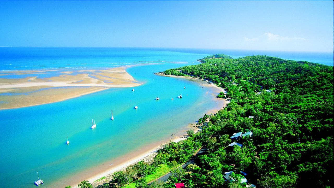 Aerial view of the township of 1770 on the Discovery Coast, Queensland. Pic Tourism Queensland.