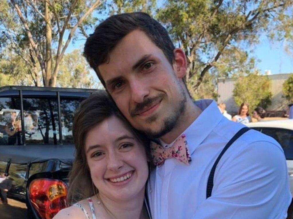Nathanael Patson with his fiancee Sarah Morgan.