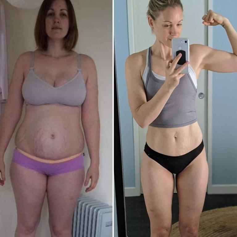 Gabrielle went from a size 18 to a size 8. Picture: Instagram/lella.fit