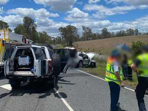 Elderly woman among 4 treated after crash north of Gympie