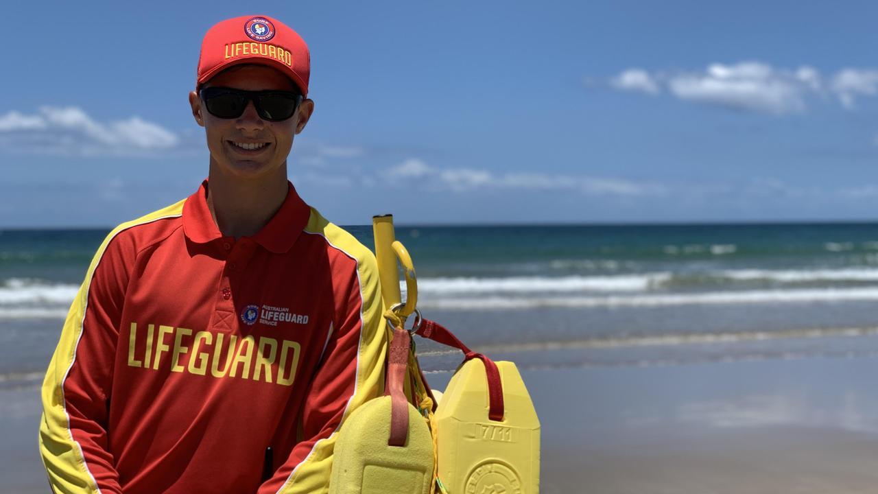 Lifeguard Ky Woods at Nielson Park Beach, Bargara.