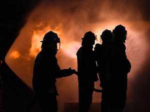 Footage shows large grass fire at Caloundra