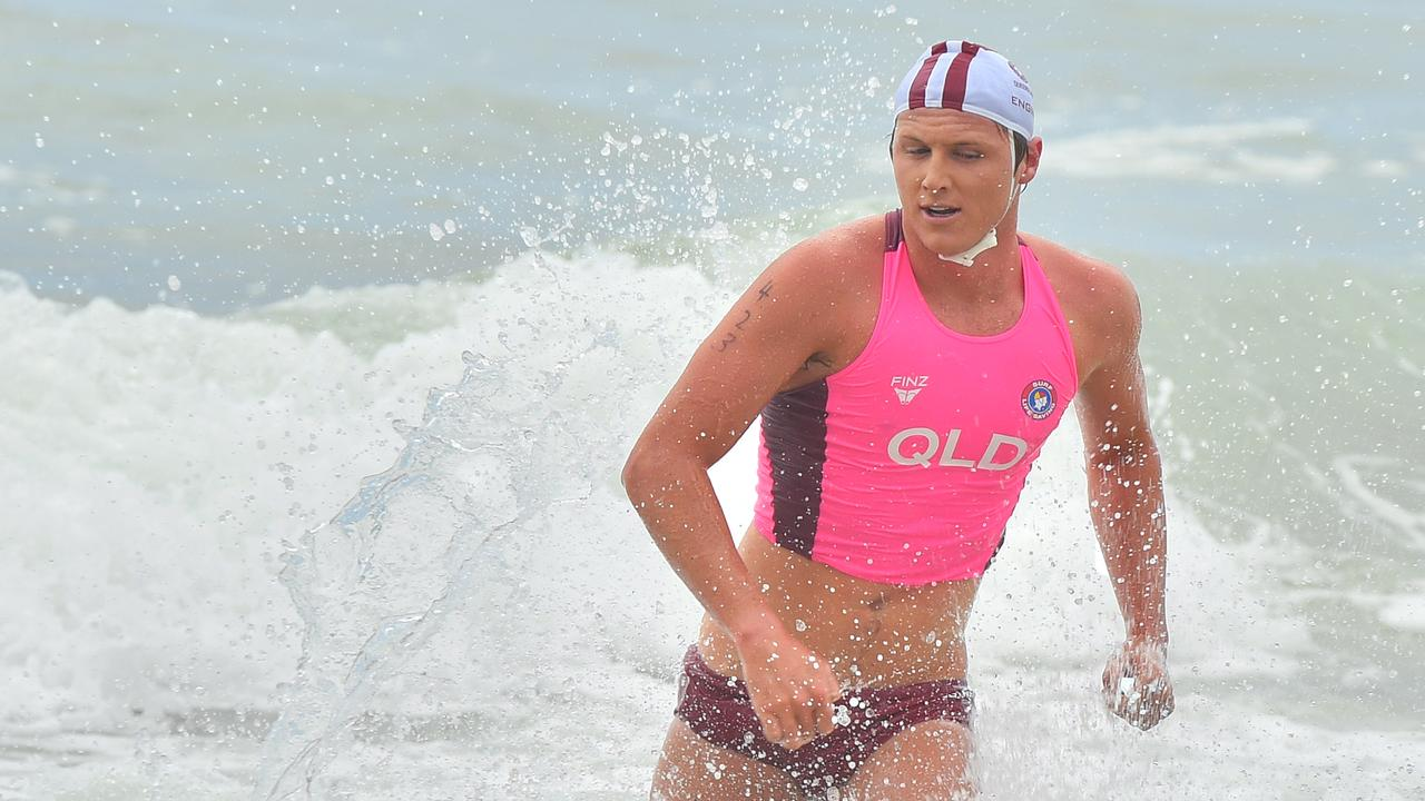 Cooper Williams in action during the Surf Lifesaving Interstate Championships at Alexandra Headland Beach in January. Picture: John McCutcheon