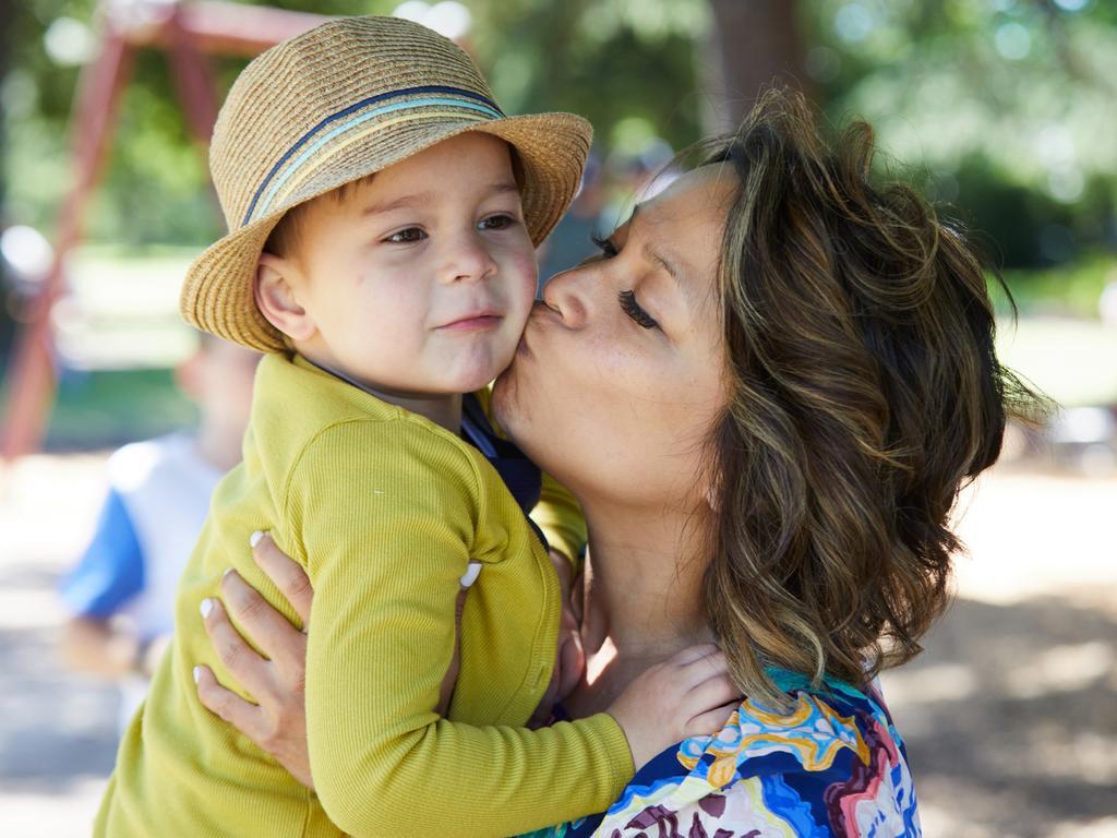 Food allergy sufferer Darius, 4, with mother Margaux Bonne. Picture: Matt Houston.
