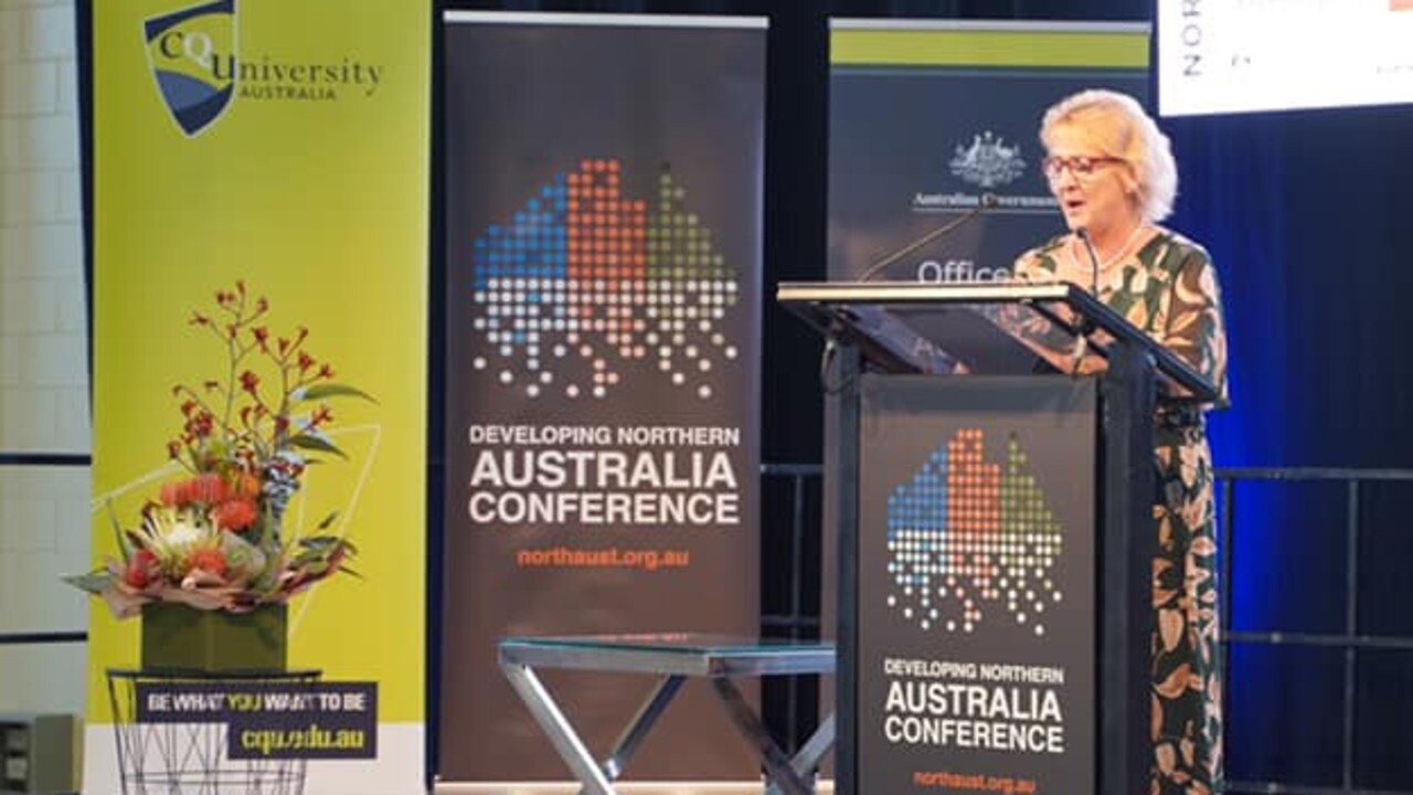 Assistant Minister for Northern Australia Michelle Landry gives her keynote speech to the Developing Northern Australia Conference on Monday.