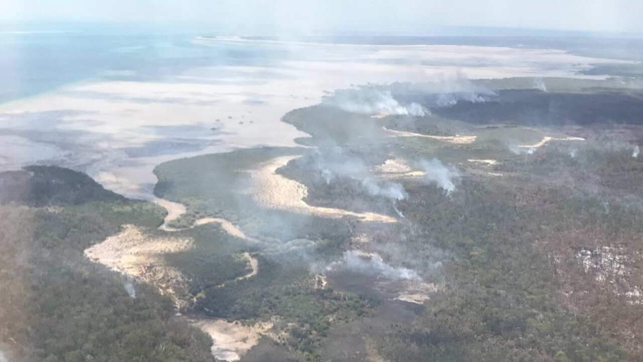 On Saturday, in two-and-a-half-hours, three Fireboss fixed-wing aircraft dropped 84 loads of saltwater on the bushfire.